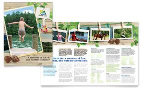 Summer Camp Pamplets Bowling Brochure Template Design