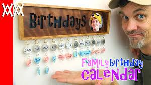 Diy Family Birthday Calendar Tutorial How To Instructions