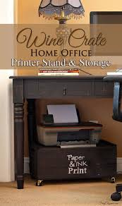 large printer stand. Perfect Large A New Desk But No Storage Below For The Printer Or Supplies So Time A  DIY Project Large Size Wood Wine Crate Is Easily Turned Into Stands  To Large Printer Stand P