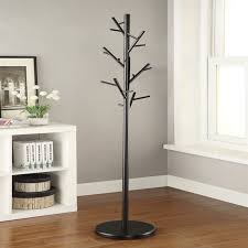 Coat Tree Rack Fascinating Coaster Modern Coat Rack In Black 32