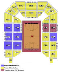 First Bank Center Seating Chart West Texas A M University First United Bank Center Seating
