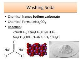 chemical formula of washing soda in the