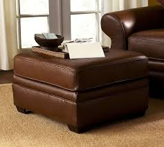 pearce leather ottoman