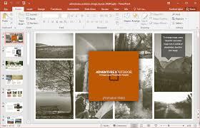 Animated Outdoor Images Template For Powerpoint