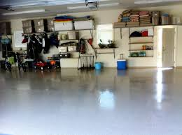 Floor Painted With White Epoxy Color Remodel Basement Garage House - House with basement garage