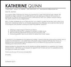 Orthodontic Technician Cover Letter Sarahepps Com