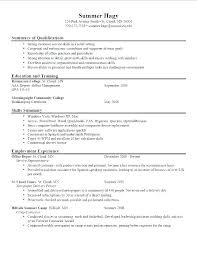 Resume Job Objective Objective Resume Samples Example Objectives For