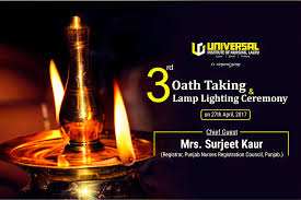Universal Institute Of Nursing Is Organizing 3rd Oath Taking Lamp