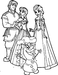 Elsa Anna Olaf Coloring Pages