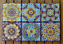 italian ceramic tile wall art