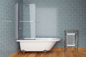 edwardian freestanding bath 1700 x 750mm and bath screen with dragon feet sv91001769 scene rectangle