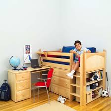 kids beds with storage boys. Nonsensical Kids Beds With Storage And Desk Loft Boy S Bed By Maxtrix Natural Wood 606 Boys G