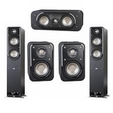 klipsch thx speakers. polk audio signature 5.0 system with 2 s50 tower speaker, 1 s30 center s10 surround speaker klipsch thx speakers