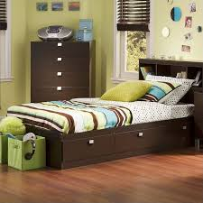 South Shore Cakao Kids Twin Storage Mates Bed Frame Only in ...