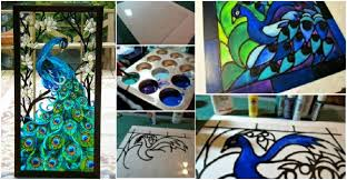 faux stained glass window tutorial