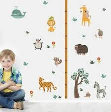 Details About Wall Stickers Animal Zoo Height Chart Large Decor Removable Nursery Kids Baby