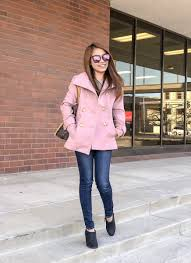 travels and whims 6 1 double ted peacoat obsession fashion women s pink pea coat outfit