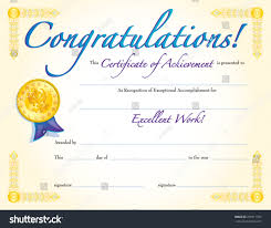 Congratulations Certificate Congratulations Certificate Achievement Stock Vector 24 7