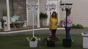 Energizer 3 Fixture Solar Lamp Post With Planter Base On Qvc