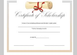 Scholarship Certificate Template Certificate Template For Scholarship Sample Of Scholarship