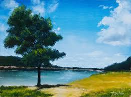 landscape oil painting on canvas by artist darko topalski