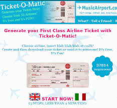 Airline Kids Template Is Generator The Flight Tickets Best Fake Generator Ticket Ticket-o-matic