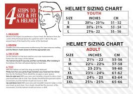 And1 Clothing Size Chart Helmet Size Chart