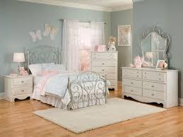 Metal Bedroom Furniture Standard Furniture Spring Rose Metal Bedroom 4pc Set In White