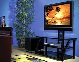 TVStands Avista Numina Flat Panel Glass TV Stand Living Room View