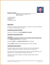 Resume Template In Word Simple Format Fi Saneme