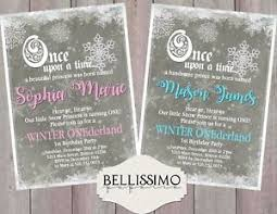 Snowflake Birthday Invitations Details About Winter Onederland Birthday Invitation 1st Birthday Snowflake Personalized