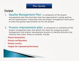 Quality Management Plan Project Quality Management College Paper Writing Service 17