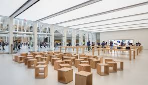 The new Apple store inside New York's World Trade Centre Transportation  Hub, with interiors by
