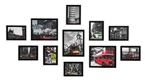 Amazon.com - Wood Meets Color Wall Picture Frames Set Of 11, With ...