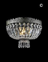 royal french basket chandelier flush mount antique silver w