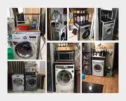 Kệ máy giặt 2 tầng cửa trước KMG03N thương hiệu 9House kệ để đồ trên máy