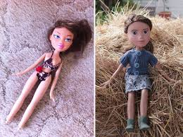 australian mom turns bratz dolls into regular s by removing their unrealistic makeup bored panda