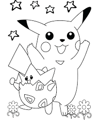 Pikachu Coloring Sheet Coloring Pages With Pokemon Pikachu Coloring