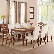 formal dining room table with 8 chairs unusual 9 piece dining sets you ll love