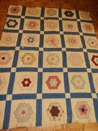 Antique Grandmother Flower Garden Quilt Cutter or Repair Pretty ... & Antique Grandmother Flower Garden Quilt Cutter or Repair Pretty | eBay  smoeast123. 61