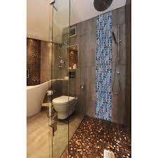hexagon stainless steel brushed mosaic tile bronze copper color black bathroom shower floor tiles tstmbt021