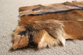 natural character stripe goatskin rug cs4 137x61cm