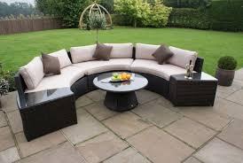half moon sofa set brown
