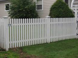 Decorations white fence styles white wood picket fence designs for