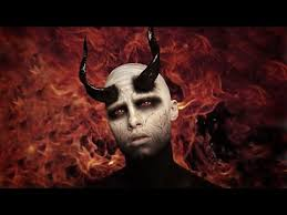 black white demon devil makeup tutorial