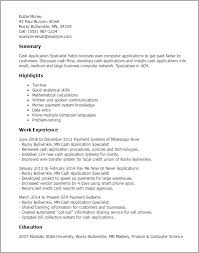 Resume Templates: Cash Application Specialist