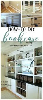 diy bookcase tutorial diy built in