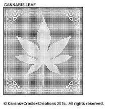 Filet Crochet Patterns Classy CANNABIS Marijuana LEAF FILET CROCHET Pattern EBay