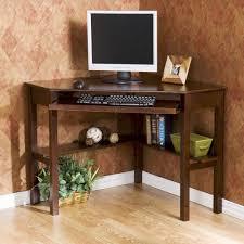 enchanting dark brown wood computer desk designs ideas with corner wooden table keyboard space