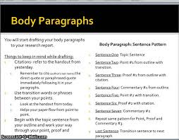 research paper drafting body paragraphs